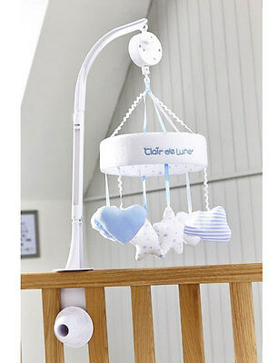 Brand new in box Clair de lune little dreams cot musical mobile in blue