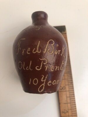 Antique Rare Mini Jug Fred Birk Old Prentice 10 Year Old