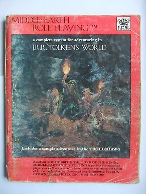 Merp Rulebook, Middle Earth Role Playing, I.c.e., #8000