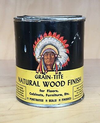 Vintage Chicago Paints Grain-Tite Natural Wood Finish Can - Chief