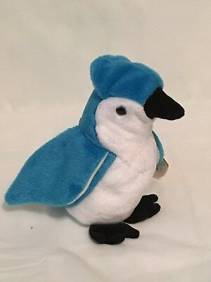 TY Beanie Baby - ROCKET the Blue Jay - Mint with Mint Tags - RETIRED