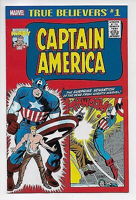 Captain America #1 True Believers / Reprints 1941 Issue (Marvel, 2017) New (NM)