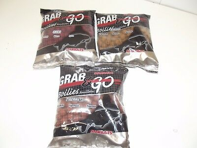 3 x 500g Bags of Starbaits Boilies 14mm Banana Spice Tigernut Clearance