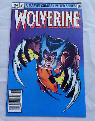 Wolverine #2 (1982)Limited Series High Grade VF Condition Frank Miller cover