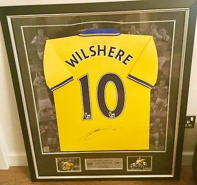 Framed Signed Jack Wilshere Shirt