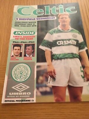 CELTIC v SHEFFIELD WEDNESDAY 31.7.1993