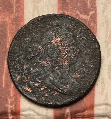 1800-1808 Draped Bust Half Cent Vintage US Copper Coin #AX53 Rare Coin