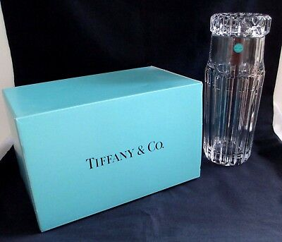 Vintage Crystal Glass Tiffany & Co. Bedside Decanter Carafe & Cup New in Box