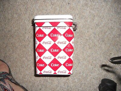 2012 Coca-Cola Tin Box Canister Storage Container NEW!