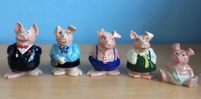 Wade / Natwest Piggy Banks / Money Box - Full Family Set of Five with Stoppers