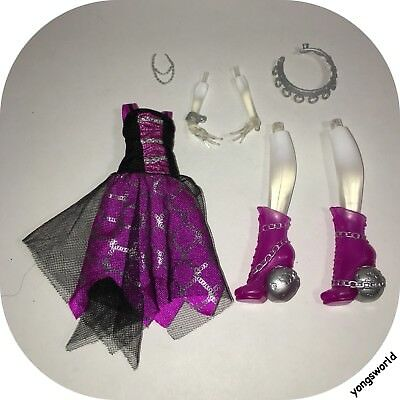 Monster High Spectra Ghouls Alive Legs Outfit Dress Jewelry Accessories Lot