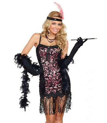 Roarin 20's Adult Sexy Cotton Club Cutie Flapper Costume by Dreamgirl