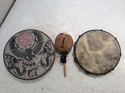 Musical Instruments Tambourines X 2, Maracas X 1 Job Lot USED Good Cond (HC)