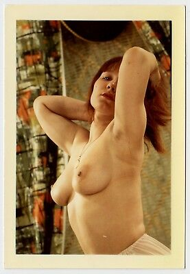 BUSTY RED-HAIRED NUDE WOMAN / ROTHAARIGE ZEIGT BRUST * Vintage 60s Amateur Photo