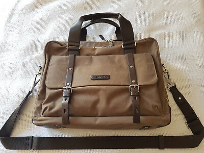 Joop - Waxed Canvas Pandion Brief Bag Nature