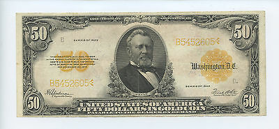 1922 $50.00 Gold Certificate - VF - Large Size - #12426