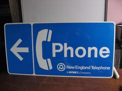 New England Telephone Phone Nynex Company Metal Sign 4ft x 2ft Great Condition