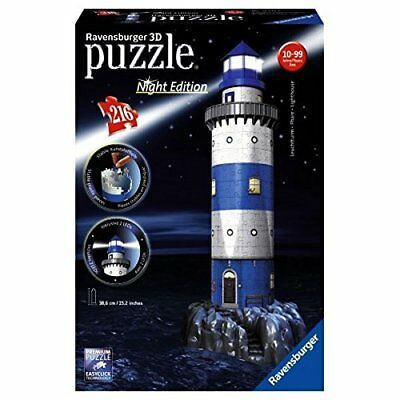 Ravensburger 12577 - Faro Night Special Edition Puzzle 3D Building con LED