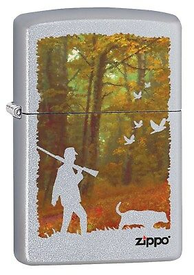 Zippo Lighter: Hunting with Dog - Street Chrome 78513