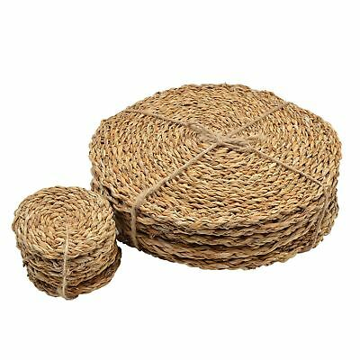 Water Hyacinth Placemats & Coasters - Set Of 12 - Sea Grass