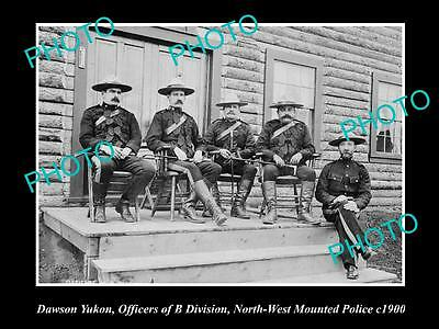 OLD HISTORIC PHOTO OF DAWSON YUKON, NORTH WEST MOUNTED POLICE, B Div c1900