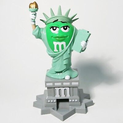 M&M's World Ms. Liberty Candy Dispenser - Statue of Liberty, Green
