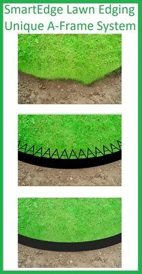 10m Flexible SMARTEDGE LAWN EDGING Garden Border System LANDSCAPING Smart Edge