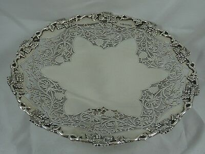 STUNNING, solid  silver FRUIT DISH, 1943, 647gm