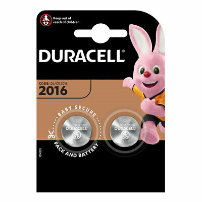 Duracell CR2016-C2 Lithium 3V Coin Cell 1 Card Of 2 Cell