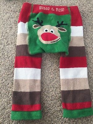Blade And Rose Christmas 6-12 Months Leggings Rudolph boys girls