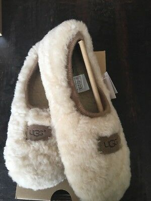 UGG WOMENS SLIPPERS BIRCHE NATURAL SIZE 8  new with box  AUTHENTIC