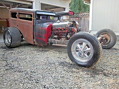 1929 Plymouth Shortened 4 Door Sedan Dragster 1929 Plymouth Sedan 454 Auto Posi Chopped Channeled Altered Gasser Hot Rat Rod