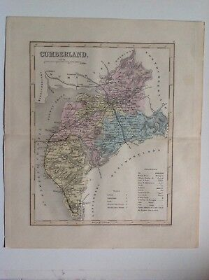 Cumberland, Antique Map C1875, Dugdales, J, Archer, Atlas