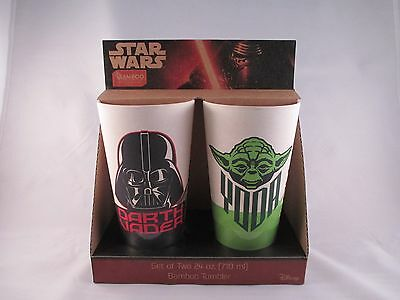 Star Wars 24 oz Bamboo Tumblers ~ set of 2 cups