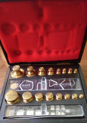 Vintage Ohaus Pharmacist Scale Calibration Weight Set  5061