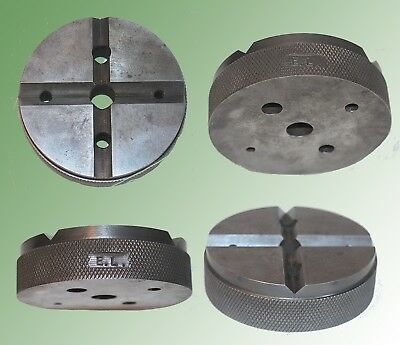 """Machinist 3 1/2 """"by 1"""" Thick Round Bench Block W/ Knurled Outside Edge & V Cuts."""