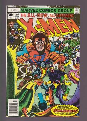 X-Men # 107  The Saga of the Starjammers !  grade 6.0 scarce book !