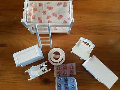dolls house nursery room set