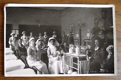 A Vintage Real Photograph Postcard Of A  Red Cross Or Military Hospital