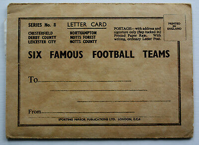 'Six Famous Football Teams' - Series 8 - Letter card - 1948/1949