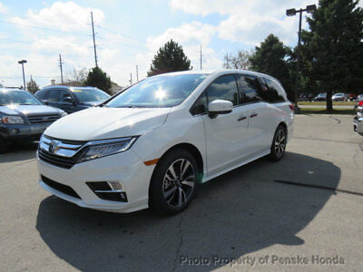 2018 Honda Odyssey Elite Automatic Elite Automatic New 4 dr Van Automatic Gasoline 3.5L V6 Cyl White Diamond Pearl