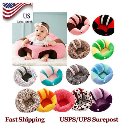 Baby Seat Chair Cushion Sofa Plush Pillow Infant Sitting Support Soft Cotton