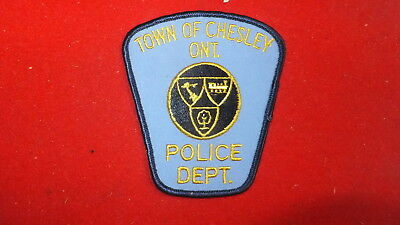 Police Patch  -  Chesley   , Ontario - Canada