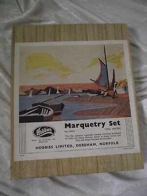 Vintage hobbies MARQUETRY KIT TIDAL WATERS, STARTED
