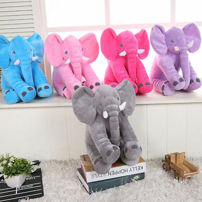 Baby Large Stuffed Elephant Plush Sleep Pillow Toy Doll Animals Pillow Cushion F
