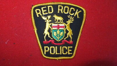 Police Patch  -  Red Rock, Ontario - Canada
