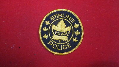 Police Patch  -  Stirling Village , Ontario - Canada