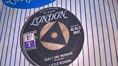 LITTLE RICHARD  UK LONDON 45 EARLY ONE MORNING  1958  Ist ISSUE