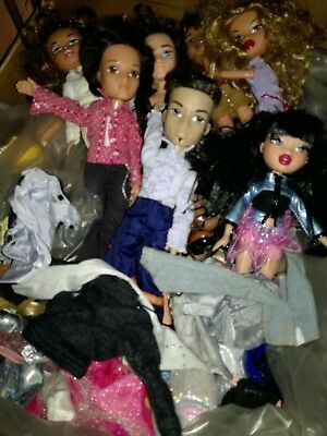 bratz dolls bundle with some clothing boy and girl dolls