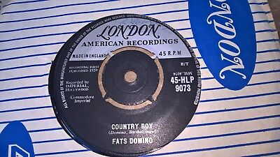 Fats Domino  Uk London 45 Country Boy  1959